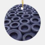Neumáticos de coche ornamento de navidad