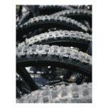 Neumáticos de la bici de montaña tarjetones