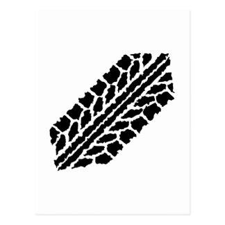 Neumáticos del Skidmark Postales