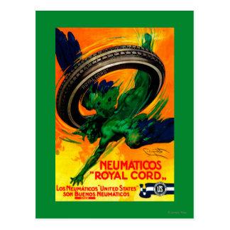Neumaticos Royal Cord Vintage PosterEurope Postcard