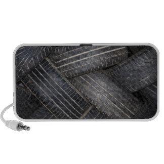 Neumáticos viejos para reciclar portátil altavoz
