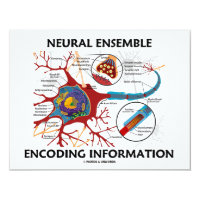 Neural Ensemble Encoding Information (Neuron) 4.25x5.5 Paper Invitation Card