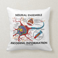 Neural Ensemble Encoding Information Neuron Throw Pillow