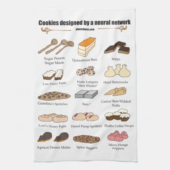 Neural network cookies kitchen towel