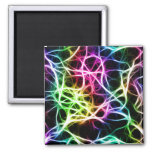 Neural Network Electrified 2 Inch Square Magnet