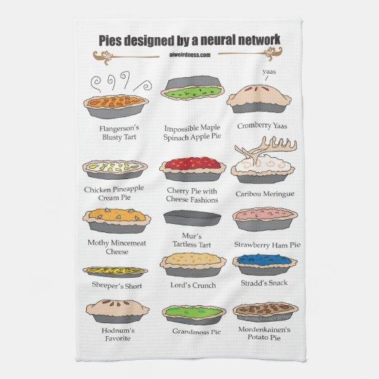 Neural network pies kitchen towel