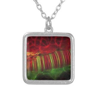 Neural tube square pendant necklace