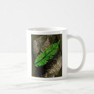neuratt frond, neuratt fern tree carboniferous classic white coffee mug
