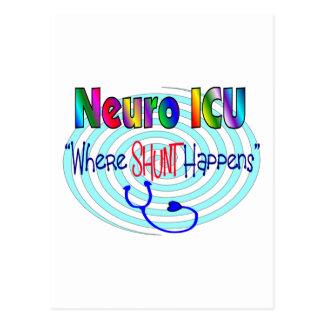 "NEURO ICU ""Where SHUNT Happens"" Postcard"