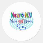 "NEURO ICU ""Where SHUNT Happens"" Stickers"