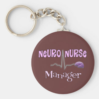 Neuro Nurse Manager Gifts Keychain
