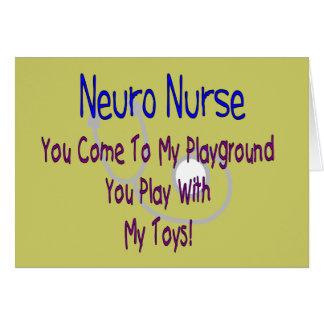 """Neuro Nurse """"My Playground, My Toys"""" Card"""
