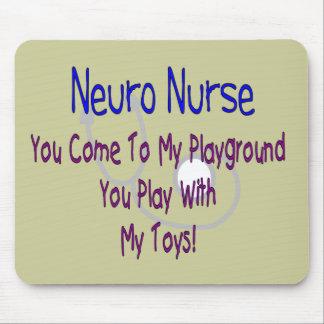 """Neuro Nurse """"My Playground, My Toys"""" Mouse Pad"""