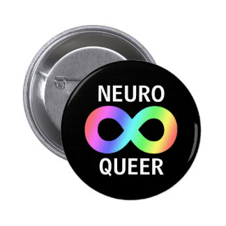 Neuro queer pinback button