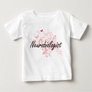 Neurobiologist Artistic Job Design with Butterflie Baby T-Shirt