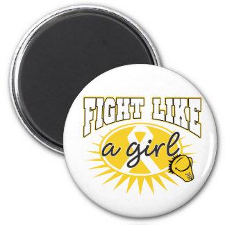 Neuroblasoma Fight Like A Girl Sporty Callout Refrigerator Magnets