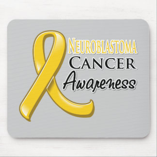 Neuroblastoma Cancer Awareness Ribbon Mouse Pads