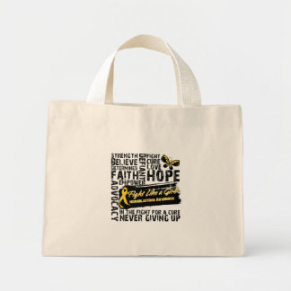 Neuroblastoma Cancer Collage - Fight Like a Girl Canvas Bags