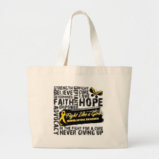 Neuroblastoma Cancer Collage - Fight Like a Girl Bags