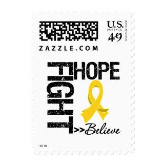 Neuroblastoma Cancer - Fight Hope Believe Stamp