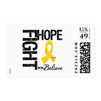 Neuroblastoma Cancer - Fight Hope Believe Postage