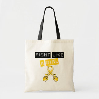 Neuroblastoma Cancer Fight Like A Girl Budget Tote Bag