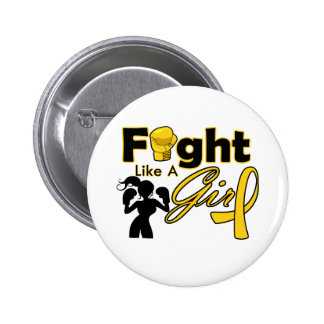 Neuroblastoma Cancer Fight Like A Girl Silhouette 2 Inch Round Button