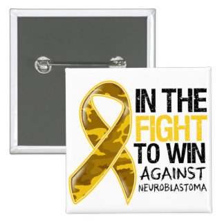 Neuroblastoma Cancer - Fight To Win 2 Inch Square Button