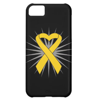 Neuroblastoma Cancer Heart Ribbon Cover For iPhone 5C