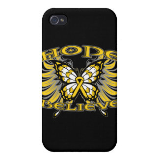 Neuroblastoma Cancer Hope Believe Butterfly Case For iPhone 4