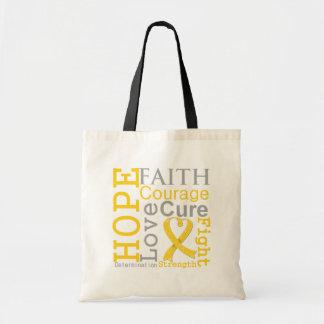 Neuroblastoma Cancer Hope Faith Motto Tote Bag