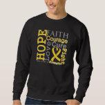 Neuroblastoma Cancer Hope Faith Motto Sweatshirt