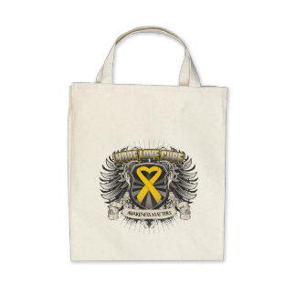 Neuroblastoma Cancer Hope Love Cure Canvas Bags