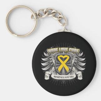 Neuroblastoma Cancer Hope Love Cure Keychain