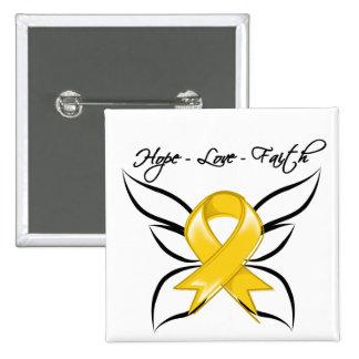 Neuroblastoma Cancer Hope Love Faith 2 Inch Square Button