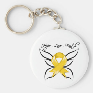 Neuroblastoma Cancer Hope Love Faith Basic Round Button Keychain
