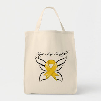 Neuroblastoma Cancer Hope Love Faith Grocery Tote Bag
