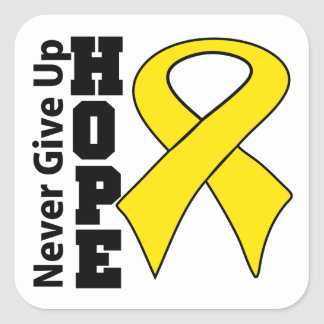 Neuroblastoma Cancer Hope Never Give Up Square Sticker