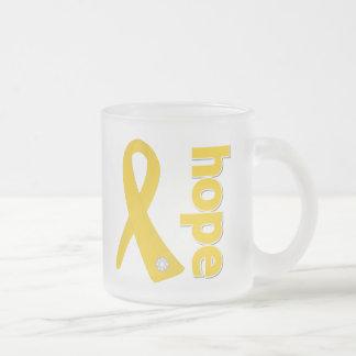 Neuroblastoma Cancer Hope Ribbon 10 Oz Frosted Glass Coffee Mug