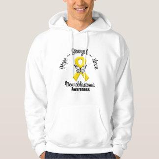 Neuroblastoma Cancer Hope Strength Love Hoodie
