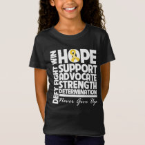 Neuroblastoma Cancer Hope Support Strength T-Shirt