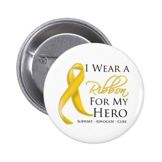 Neuroblastoma Cancer I Wear a Ribbon For My Hero Buttons
