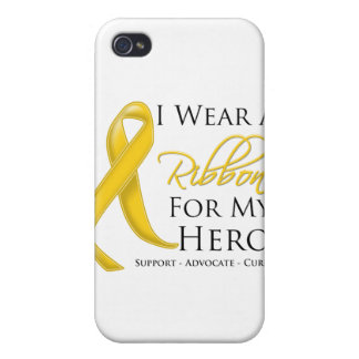 Neuroblastoma Cancer I Wear a Ribbon For My Hero iPhone 4/4S Cover