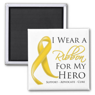 Neuroblastoma Cancer I Wear a Ribbon For My Hero Magnets