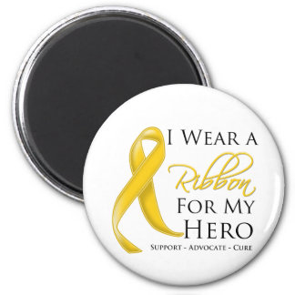 Neuroblastoma Cancer I Wear a Ribbon For My Hero Magnet