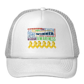 Neuroblastoma Cancer Inspirational Words Trucker Hat