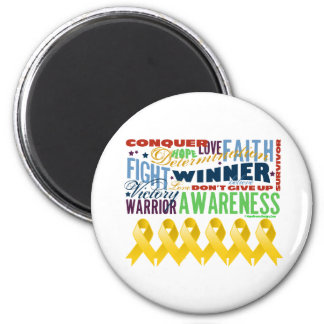 Neuroblastoma Cancer Inspirational Words Magnet