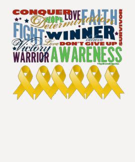 Neuroblastoma Cancer Inspirational Words T-shirt