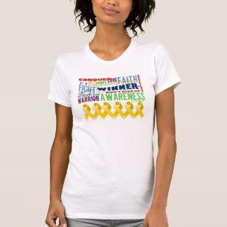 Neuroblastoma Cancer Inspirational Words Tee Shirt