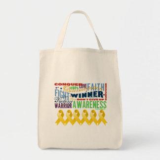 Neuroblastoma Cancer Inspirational Words Tote Bag